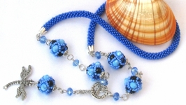 Necklace ′Celestial Symphony′. Decoration. Sautoir