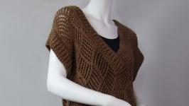Coffee-colored melange jumper
