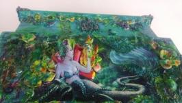 Шкатулка встиле фэнази Морская царевна