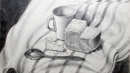 Натюрморт с хлебом и ложкой   Still life with Bread and a Spoon