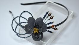Ободок Черная орхидея