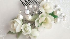 Свадебный гребень Белый букет