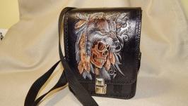 Мужская сумка ′Волк′Чоловіча сумка подарунок сумочка для хлопців