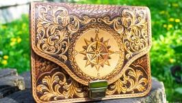 Поясная сумка - Роза ветров сумка для женщин и мужчин сумка в подарок муж