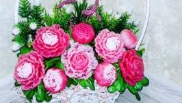 Букет цветов из мыла-Пион