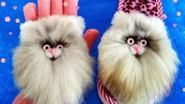 тут изображено Нашивки Кошечки из натурального меха