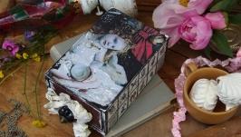 шкатулка купюрница Алиса и белый кролик