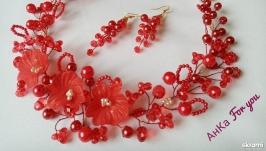 тут изображено Комплект ′Красный цветок′