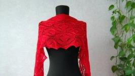 Мериносовий в′язаний шарф