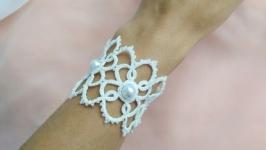 Кружевной свадебный (праздничный) браслет ′Caris′