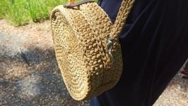 Сумочка из полиэфирного шнура женская сумочка для себя любимой