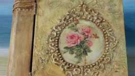 Шкатулка-книга «Цветок розы»
