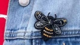 Брошь - Пчелка брошка бджілка