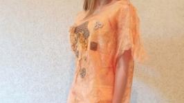 Туника блуза ручной работы