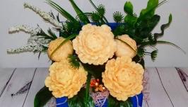 Букет цветов из мыла ′Пионы
