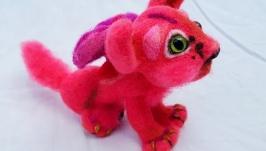 Розовый котенок с крылышками