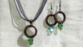 Earrings and Pendant ′Emerald′