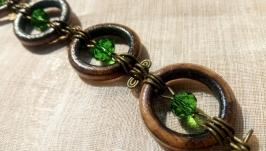 Wooden bracelet ′Emerald′