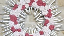 Венок для декора интерьера Декор на стену ручной работы Для дома недорого