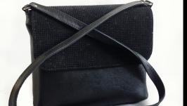 Кожаная сумка ′Черный жемчуг′