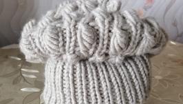 зимняя шапка миндаль