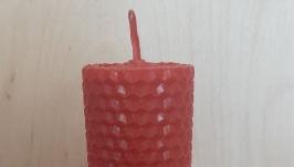 Свеча восковая красная большая