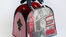 Сумочка - шкатулка ′Лондон′