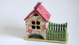 Чайный домик с забором ′ Вкусное чаепитие′.