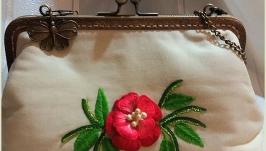 Clasp Bag-Summer Motif