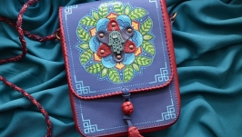 Кожаная сумка ′ХАМСА′