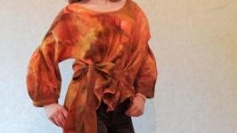 Блуза свитер ручной работы