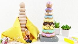 Пирамидка игрушка ′Donuts′