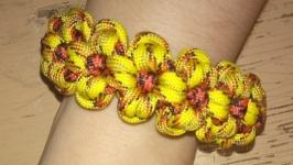 Браслет из паракорда, плетеный браслет , браслет Цветы