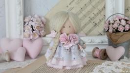 Нежная текстильная-интерьерная кукла малышка