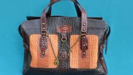 Кожаная сумка ′МАГДАЛЕНА′