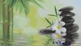 Схема для вышивки картины крестом - Бамбук