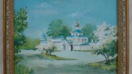 Картина маслом ′Вход в Преображенскую церковь′