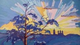 Картина ′Троицкий собор на закате′