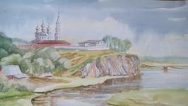 Картина акварелью ′Перед дождем′