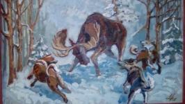 Картина маслом ′Охота′