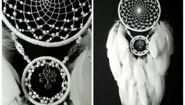 Ловец снов ′Древо любви′ - 2,белый ловец снов 2 кольца