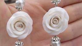 Серьги Морозная роза (24)