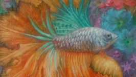 Оранжевая рыбка
