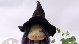 Кукла ведьмочка текстильная игровая