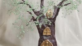 Бисерная композиция ′Дом лесовичка′