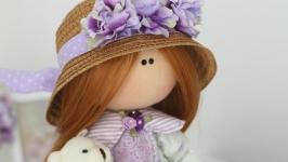 тут изображено Дана интерьерная текстильная кукла