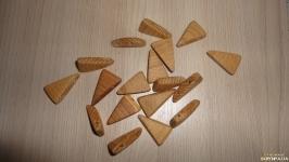 Орех 18 шт Заготовки для рунического браслета
