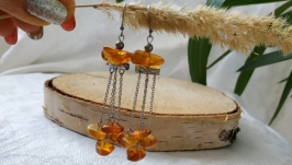 Серьги с янтарем ′Подарок солнца′