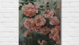 Картина маслом ′В тени сада′ 45х35 см, холст на подрамнике, масло