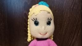 Вязаная кукла ′Юлька′